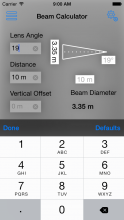 Lighting Beam Calculator